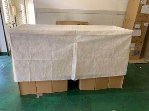 段ボールベッド「ひらいてポン」 | 飛び出す絵本のように開いて簡単組み立て! 女性でも簡単組み立て可能!わずか約30秒!