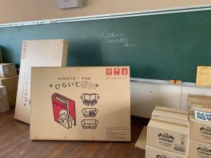 3/11神戸市立神の谷小学校に、ひらいてポンを持っていきました。
